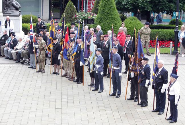 COMMEMORATION: Armed Forces Week begins in Bolton. Picture by Harry McGuire