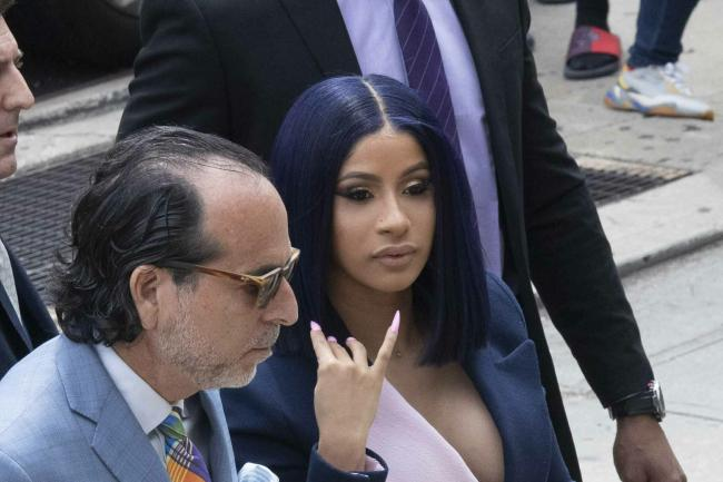 Cardi B arrives for the hearing