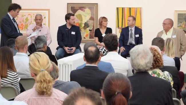 The well-attended family business seminar at Bolton Art Gallery