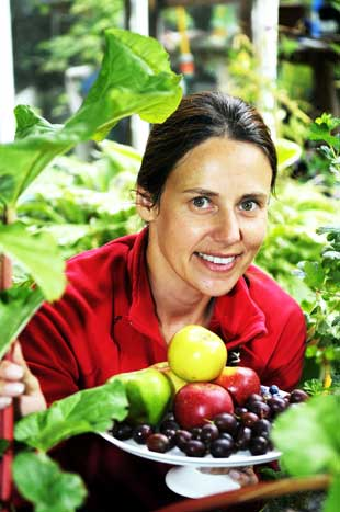 National campaign: Gardener Sharon Hockenhull who has set up the Fruitshare website