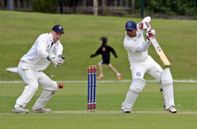FINE KNOCK: Arun Pindoria, batting, hit a half-century for Westhoughton seconds in their victory over Farnworth Social Circle