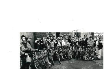 On your bike! Pedal power has seen you go far and wide for work and for charity - Photo