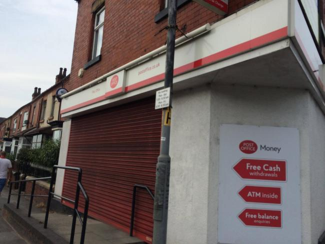 ATTACK: The Blackburn Road Post Office is now closed temporarily