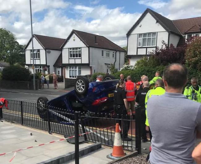 Car crash in Hardy Mill Road