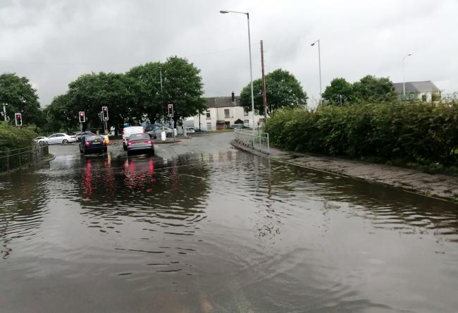 Recent flooding in Dicconson Lane, Westhoughton.