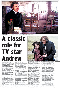 ROMANTIC ROLE: Actor Andrew Buchan stars as clergyman St John Rivers in Jane Eyre