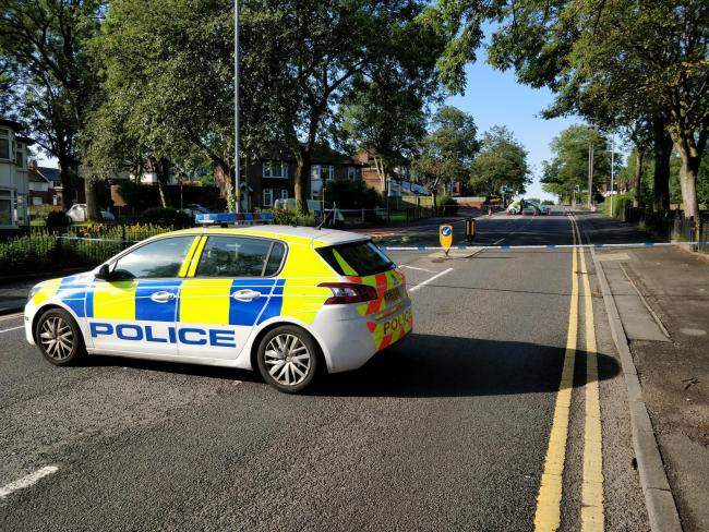 Police investigate after a hit and run crash in Moss Bank Way