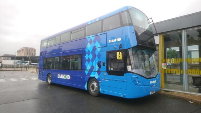 DEBUT: Diamond North West bus at Bolton Interchange