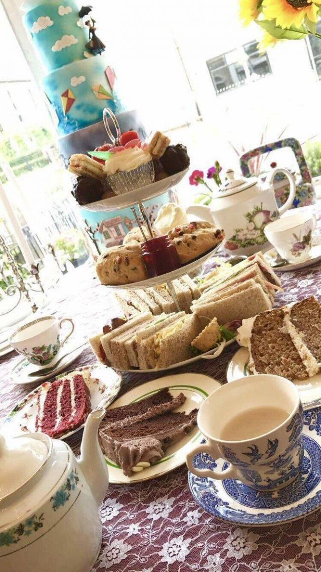 Afternoon tea at Poppins Tea Rooms