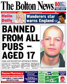 What Is An Asbo >> Asbo Boy 17 Banned From All Pubs The Bolton News