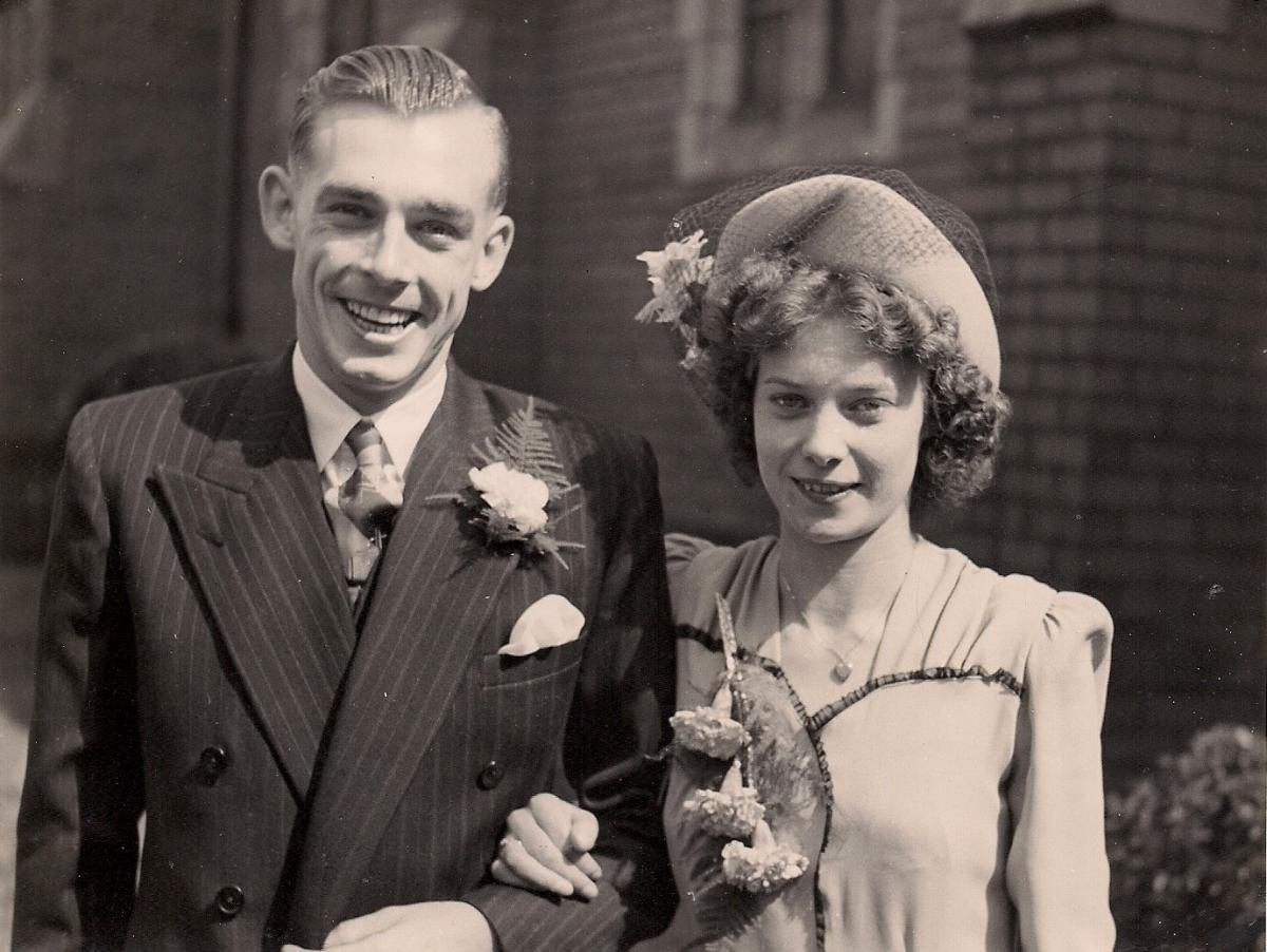 Couple whose love blossomed as 1940s penpals celebrate 70