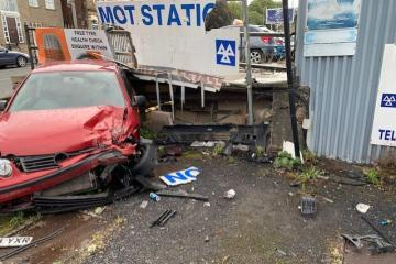 'Disaster' as car ploughs into two businesses - Photo