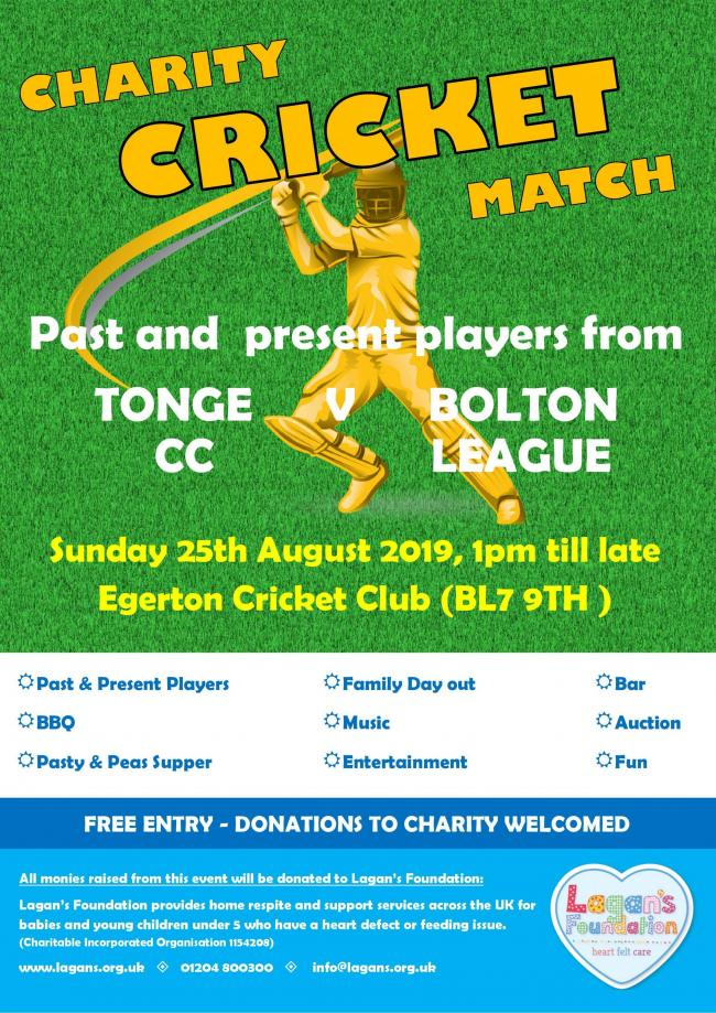 CRICKET: Egerton to host charity match this weekend
