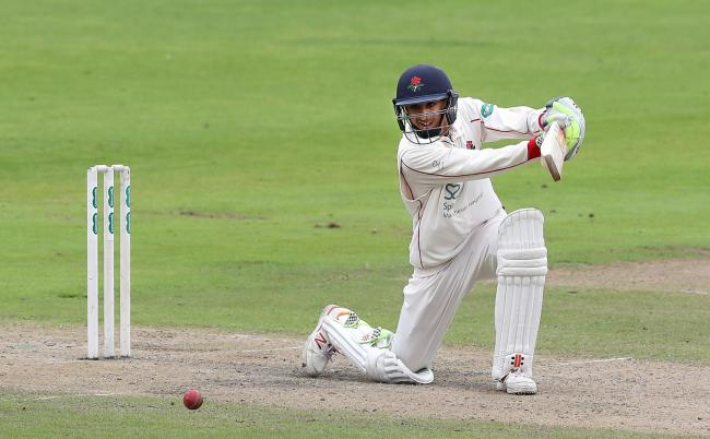 Haseeb Hameed in action for Lancashire