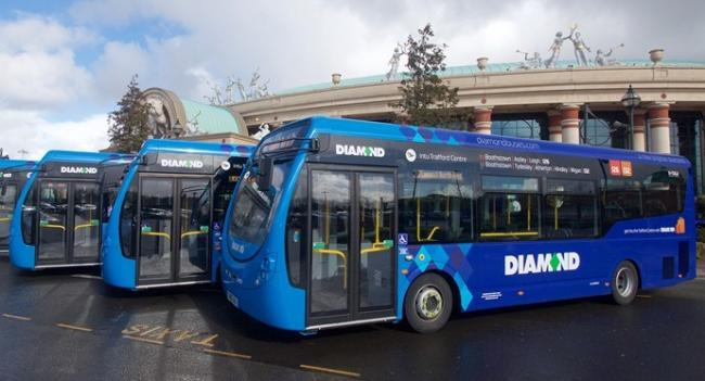 New Diamond Bus North West vehicles will be seen on routes in Bury