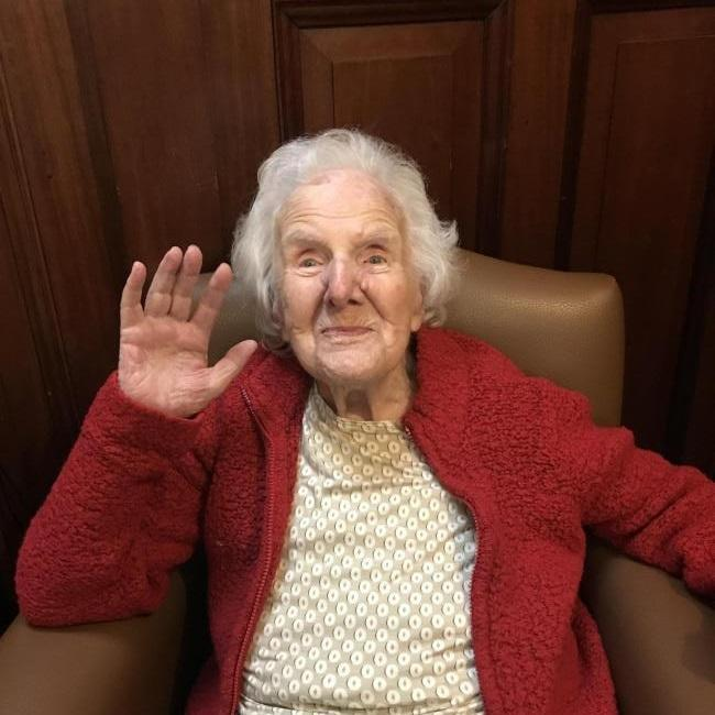 108-year-old Winifred Burgoyne