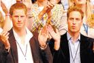 Prince Harry and Prince William enjoy the star-studded concert