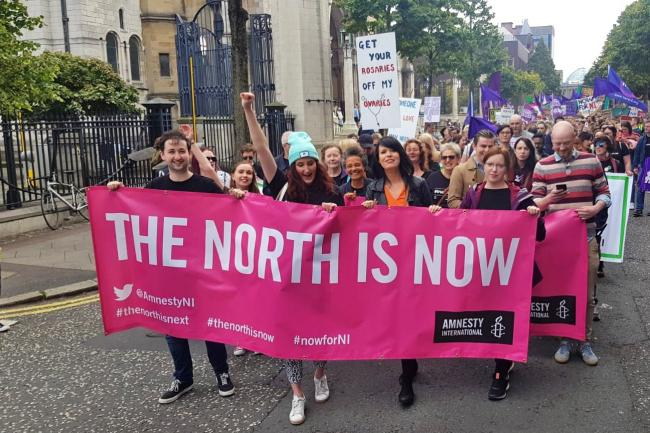 Thousands join opposing rallies on abortion law change | The