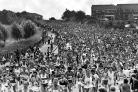 On the way, but still 26 miles to go ... the 1981 scene on Beaumont Road, Bolton, at the start of the marathon.