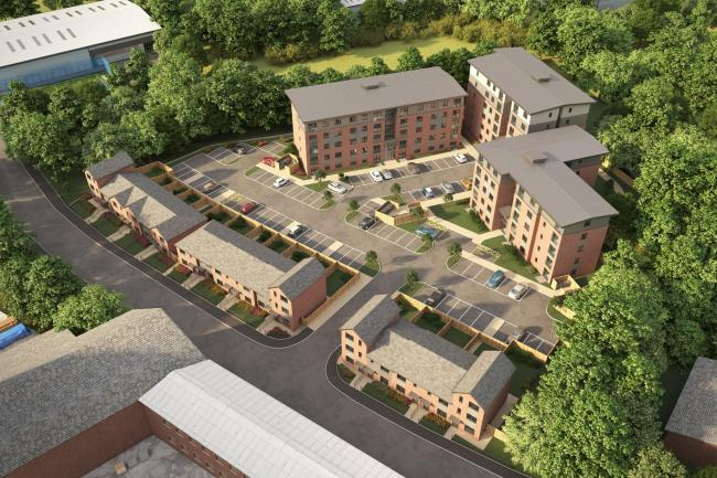CGI of planned new homes in Chorley Street, Bolton