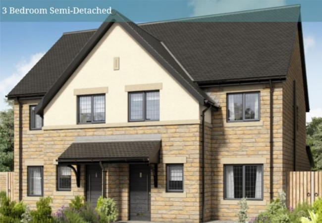 Examples of three bedroom semi-detached houses proposed at Chorley Road, Westhoughton