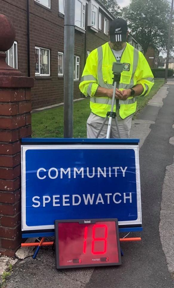 Tonge Fold Community Speedwatch group have been monitoring speeders on Ainsworth Lane