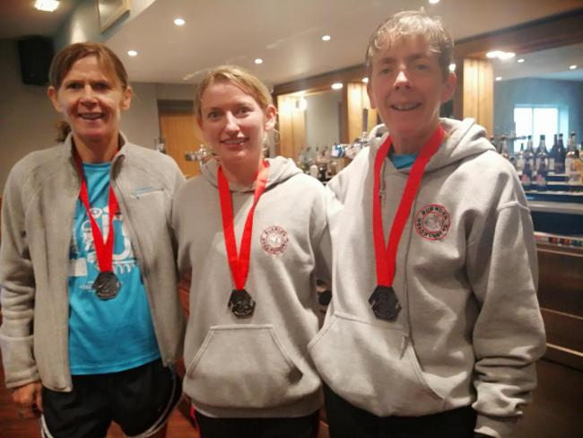 Lyndsay Darbyshire,  Sarah Watton and Gwen Kinloch from Burnden Road Runners