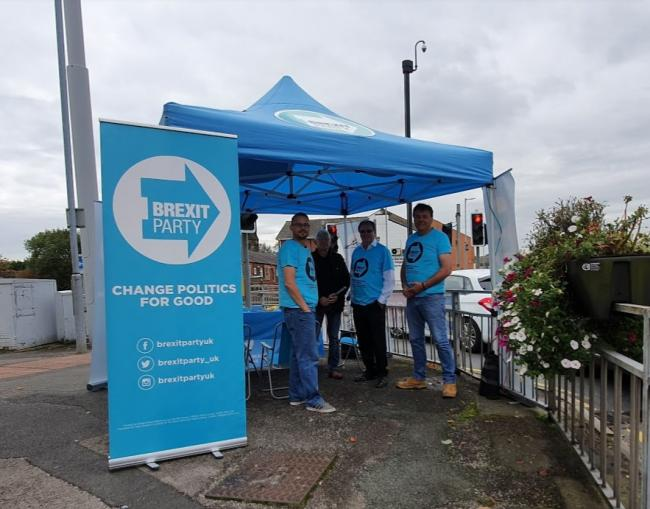 The Brexit Party sets out its stall in Astley Bridge