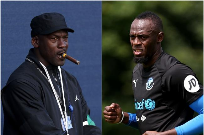 Michael Jordan and Usain Bolt