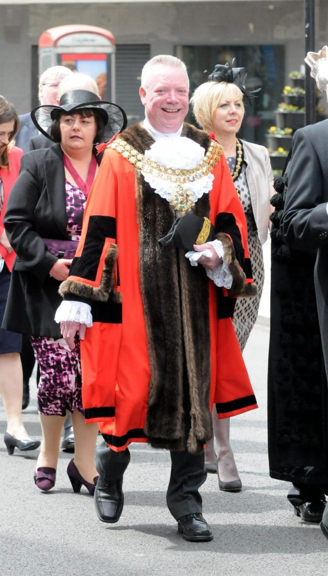 Cllr Martin Donaghy when he served as Mayor of Bolton