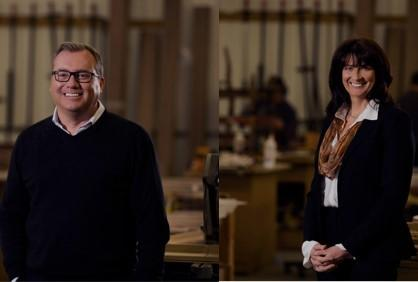 Guy Newton and Pamela Tennant, two of the three taking the helm now at furniture makers Clive Christian
