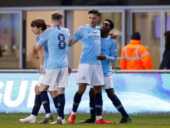 Manchester City's youth team reached the FA Cup final last season