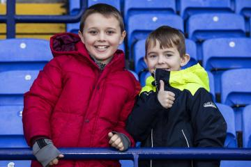 Wanderers fans enjoy the home victory over MK Dons - Photo