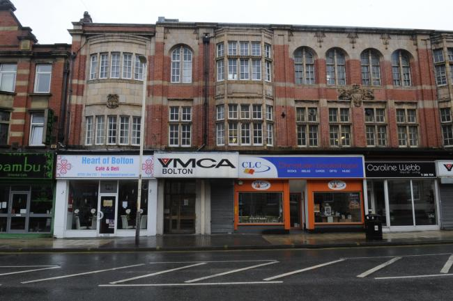 YMCA in Bolton Town Centre.