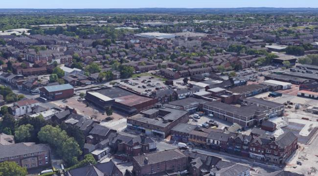 Farnworth aerial view from above