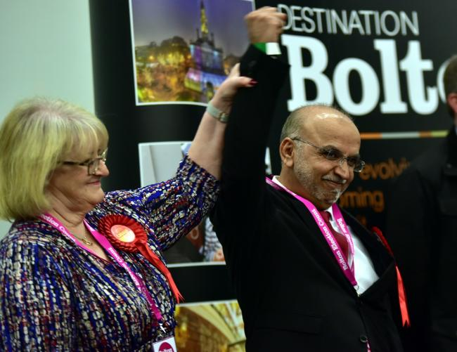 Akhtar Zaman keeps his Halliwell seat for Labour at Bolton's local elections 2018.