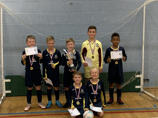 CHAMPIONS: The St Osmund's Year 4 futsal team
