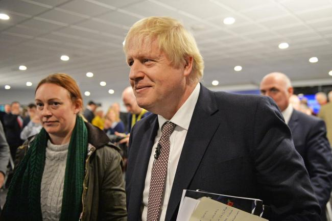 Prime Minister Boris Johnson at the launch of the Conservative Party Welsh manifesto in Wrexham whilst on the General Election campaign trail. PA Photo. Picture date: Monday November 25, 2019. See PA story POLITICS Election. Photo credit should read: Jaco