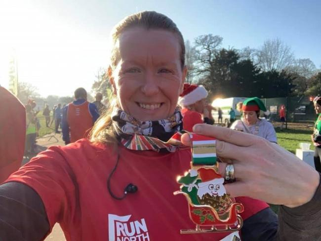 COMEBACK TRAIL: Rachel Hancock kicks off the festive running season in style at Wythenshawe Park