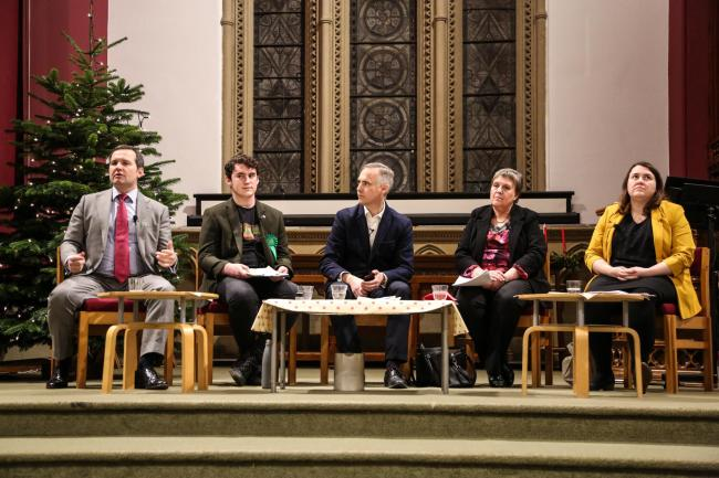4 November 2019. St Peter's Halliwell, Church Road, Bolton. Halliwell and Heaton churches held an election hustings. Pictures by Phil Taylor