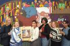Today's picture from The Bolton News archives shows students from Bolton College, from left, Petra Holt, Amanda Rock, Mehzabeen Patel, Dina Parmar, Jane Whelan and Farhana Jadwat, in front of the mural they painted for Sunninghill Primary School in 19