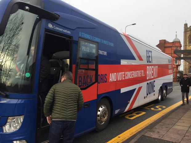 The Bolton News: A Boris bus even made it to Bolton