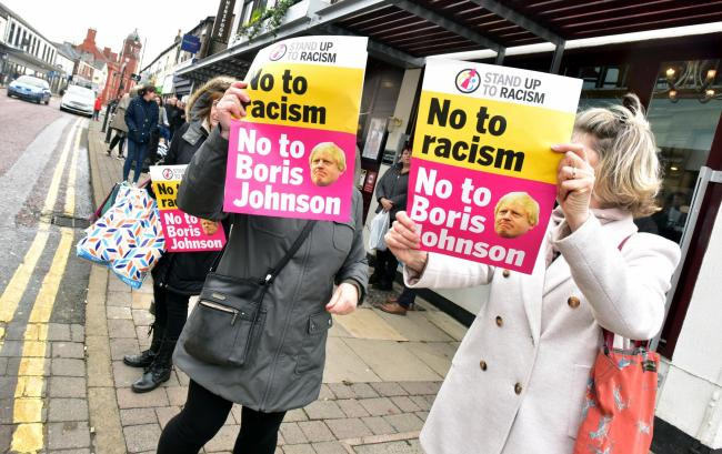 Boris Johnson was due to make an appearance in Bolton today