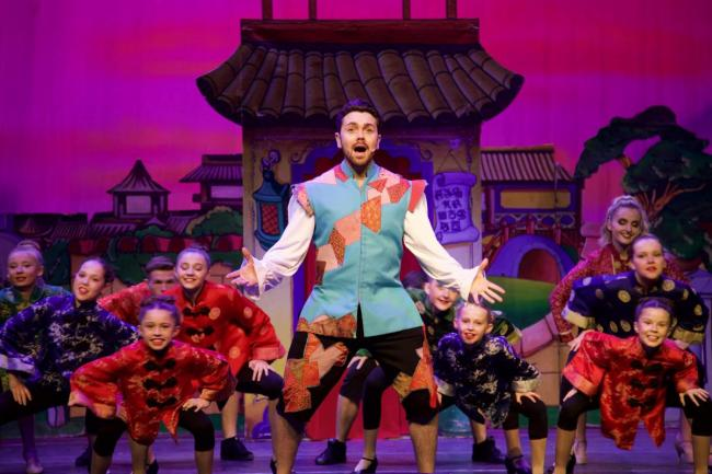 Ray Quinn on stage in Aladdin