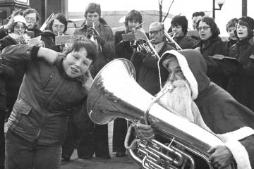 Adventures of Father Christmas in Bolton over the years - Photo
