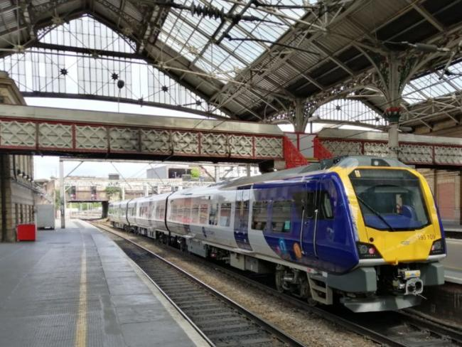 One of the new Northern diesel trains at Preston Station