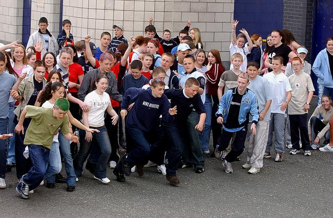 Today's picture from The Bolton News archives shows year nine pupils from St Josephs RC High School on their charity fun run to raise money for the Catholic Children's Rescue at the Reebok Stadium in 2003