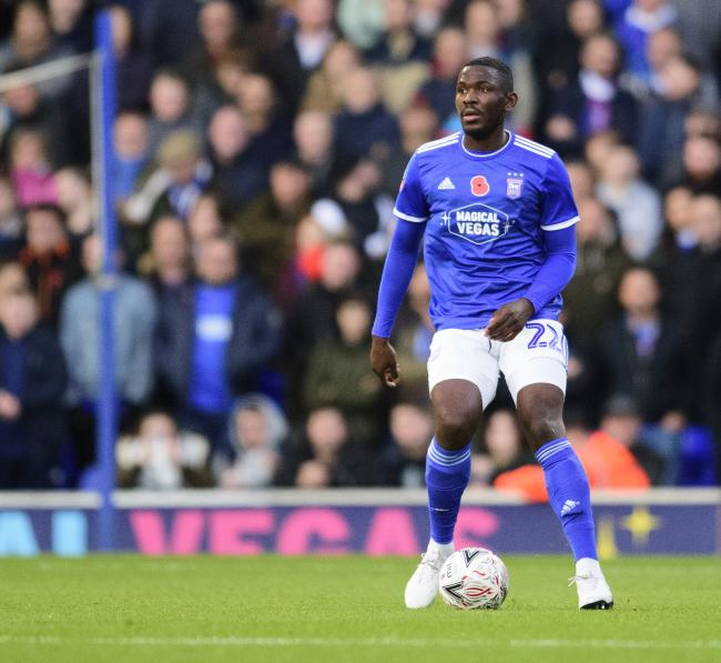 Ipswich Town defender Toto Nsiala in action this season
