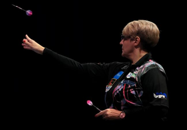 Lisa Ashton in action during the final