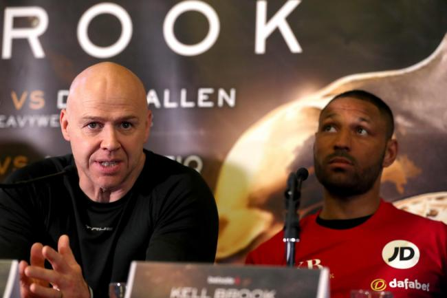 Dominic Ingle with Kell Brook